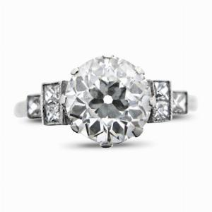 Old Cut Diamond Solitaire Ring - 1.50ct